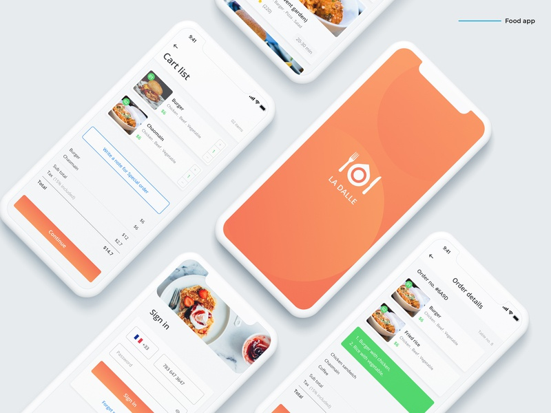 Food app exploration software application ui ux android app ios app mobile app ux design food app ui food delivery app food menu food shop food ordering app restaurant app food and beverage food food app