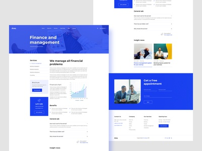Consulting website (Inner page)