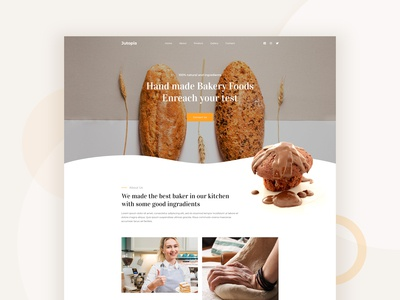 Bakery shop landing page concept