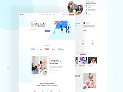 Marketing agency & SEO landing page