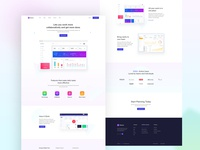 Saas landing page-Project management
