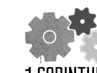 1 corinthians illo/logo gears texture vector munchie logo