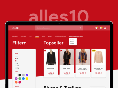 Fashion Store Template template ecommerce website flat minimal fashion shop store