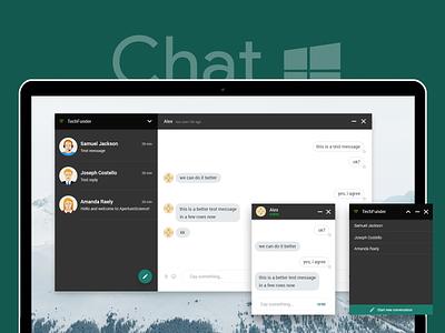 Messenger App Template ux ui minimal flat windows app chat messenger