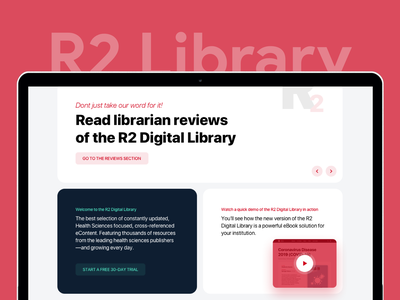R2 Digital Library reading store books website flat minimal