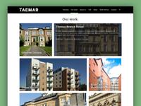 Taemar Website Design (Portfolio page)