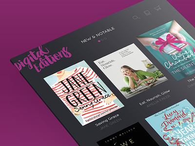 Digital Editions reading app ux ui tablet