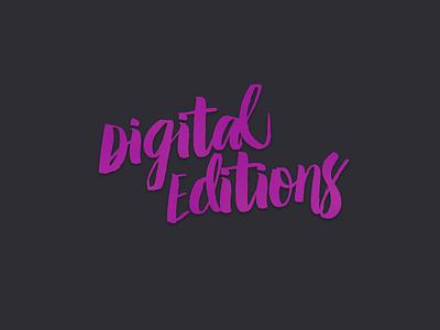 Digital Editions Logotype hand drawn brand branding logotype logo