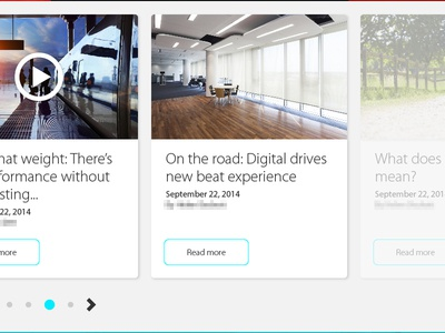 Article drawer article news video panel widget pagination arrow date slider