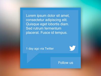 Twitter Box square blue twitter social follow icon latin speech flat simple clean dribbble-bg