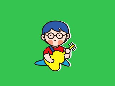 Rock band guitar  player
