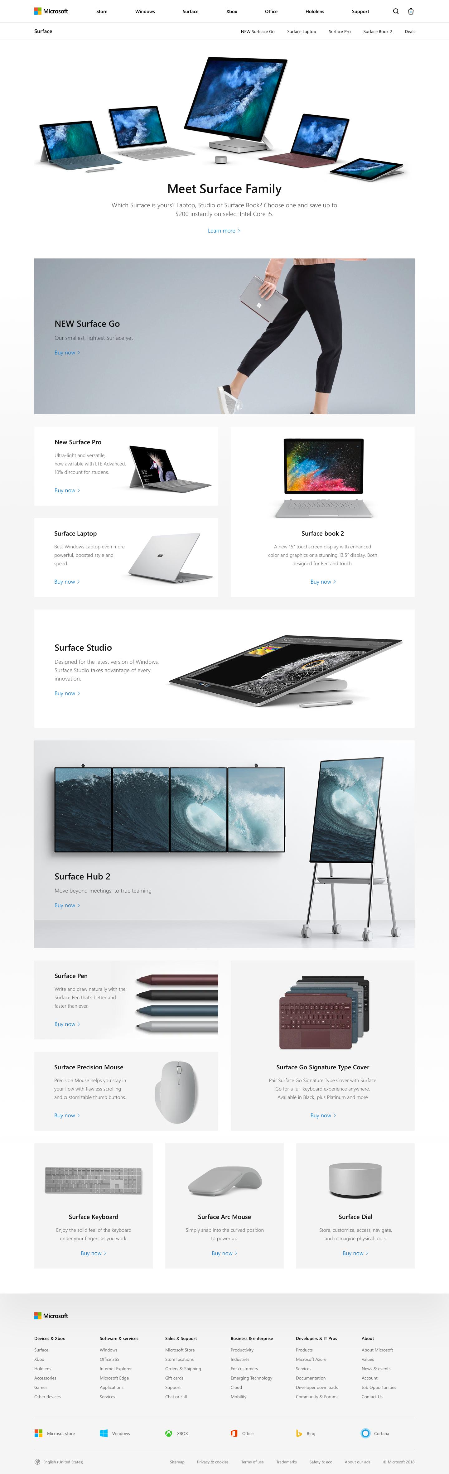 Store surfcae