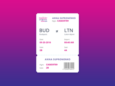Boarding Pass pass boarding day024 dailyui 100days