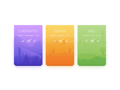 Weather clean day37 dailyui 100days weather
