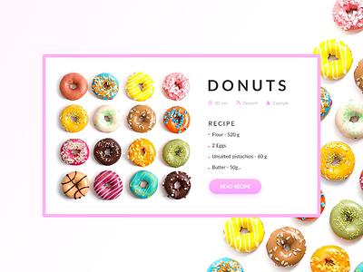 Recipe web ui design day040 dailyui 100days 040 recipe