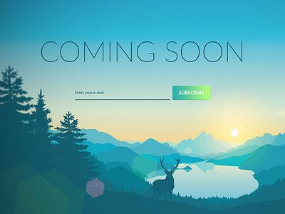 Coming Soon - Dailyui - Day #048 web ui design day048 dailyui 100days 048 soon coming