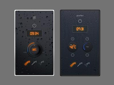 Shower interface design interface shower ux ui