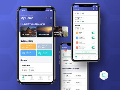 Smart Home Mobile App application mobile app design mobile design mobile app design ios app smarthome smart home app ux ui mobile app smart home