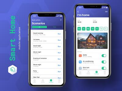Smart Home – Scenarios smart scenarios mobile design smart home app smart home ui ux ios app smarthome mobile app app application