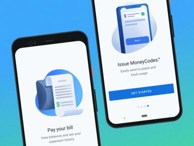 Fleet App Onboarding Spots 2 fleet illustraion material moneycodes send payment receipt