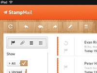 Concept email app for iPad