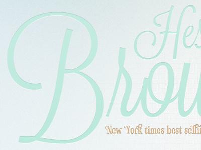 Hester Browne Author author script lavanderia phaeton duck egg blue mint green brown