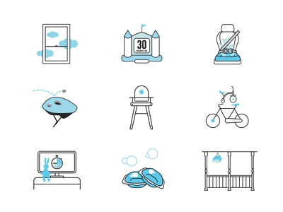 Nationwide Illustrations helmet bike house safety children child illustration icon