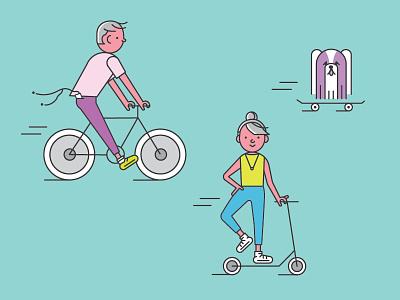 Ride icon scooter bike illustration vector