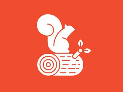 Logo for LogSquirrel vector branding log squirrel logo