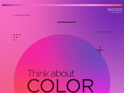 """""""Think about color"""" poster digital art graphic graphic design art poster design"""
