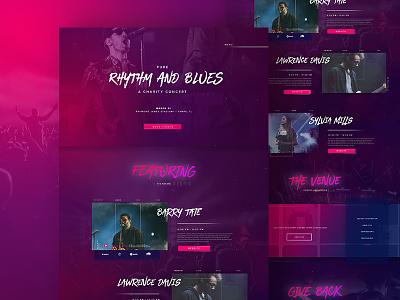 Pure Rythm n Blues Concept ux ui website