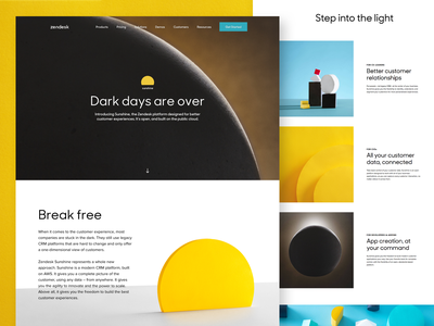 Zendesk Sunshine website