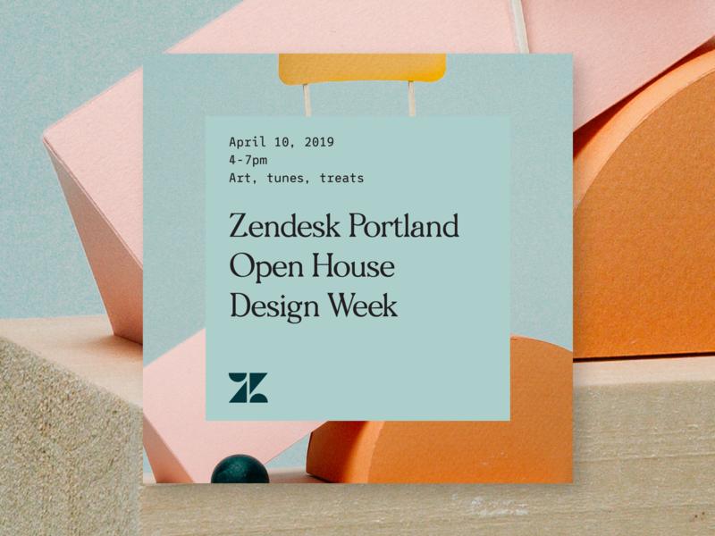 Portland Open House engineering zendesk portland event typography product design branding design