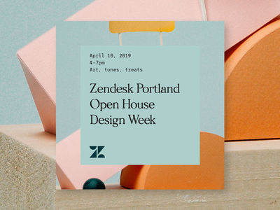 Portland Open House engineering zendesk portland event typography product design branding design