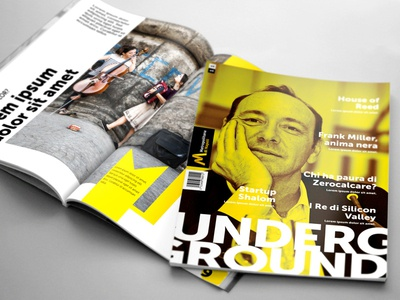 Editorial design for Metropolitana di Napoli kevin spacey indesign undeground magazine book editorial metropolitana napoli naples metro