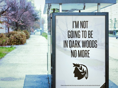 Use the LED - Teaser advertising dark woods art direction star wars jesus einstein quotes dante lighting illumination light led