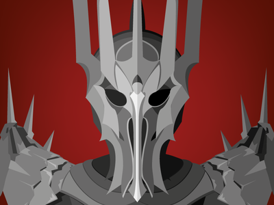 Lord Of The Rings Illustration lord of the rings flat design tolkien fantasy film cinema vector illustration sauron lotr characters