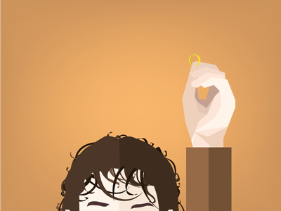 Lord Of The Rings Illustration lord of the rings flat design tolkien sauron frodo lotr film vector illustration fantasy cinema characters