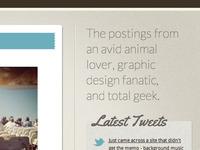 Personal Blog Site Design