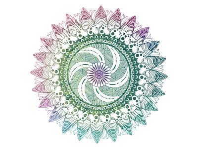 Peyote Mandala desert native american feather mescaline cactus peyote lotus sacred geometry mandala