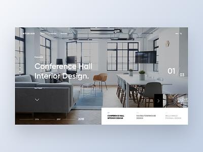 Interior Company Website - Landing slider modernization web design trends illustration interior user interface web design