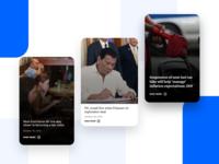 Web UI - Cards Design Exploration