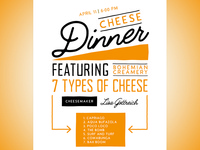 Cheese Dinner Flyer