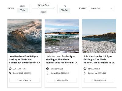 Price Filter Slider Exploration price range auction e-commerce ui ux slider price filter