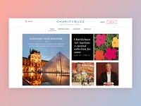 Phase One of Charitybuzz rebrand + redesign