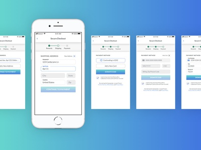 Prizeo App Checkout Flow ui ux checkout flow charity sweepstakes e-commerce checkout