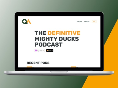 Quack Attack Website Redesign wordpress ux ui redesign podcast mighty ducks