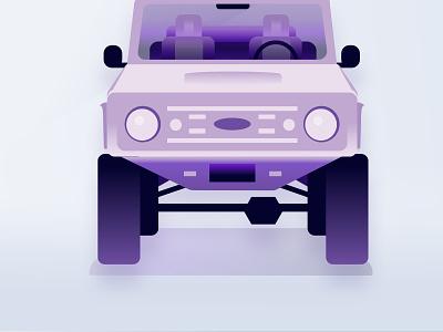 bronco flat Volt noise design illustration isometric ford ford bronco