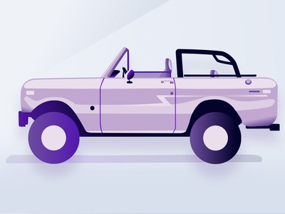 bronco flat2 Volt ford bronco bronco ford purple isometric art drawing test icons noise illustration