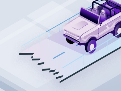 bronco iso Volt design drawing lines purple isometric art illustration icons noise bronco ford ford bronco